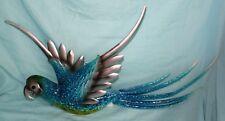 Colorful Parrot Wall Art Decorative Ornament Sculpture Plaque Decoration-A