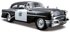 1955 BUICK CENTURY POLICE  1:26 DIECAST MODEL CAR BY MAISTO 34295