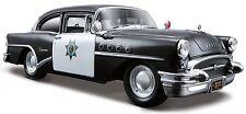 1955 BUICK CENTURY POLICE  1:26 DIECAST MODEL CAR BY MAISTO 34295