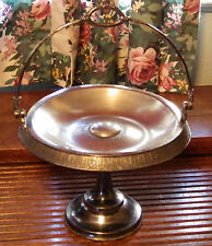 Victorian Bride's Cake Basket by Meriden Co Quadruple Silver Plate Centerpiece