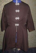 NEW Civil War Reenactment Woman's Coat Brown Pinstripe  Sz 20-22