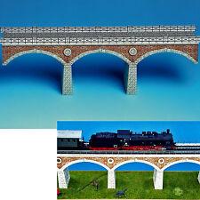 Puente ferroviario pista 1:87 h0 38 cm de largo bastelbogen cartón modelo J.F. Schreiber