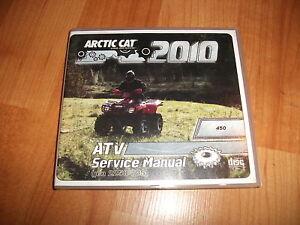 2010 Arctic Cat 450 ATV Factory Service Manual on CD