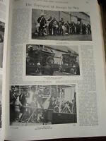 1899 Boer Guerra Transporte De Tropas Por Mar Guns Caballos &c