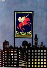 "GOLIA (E.Colmo)-CINZANO Vermouth Torino""  SPUMANTI  ZEBRA ROSSA grattacielo 1921"
