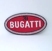 Bugatti MotorSports Car logo Iron on Sew on Embroidered Patch