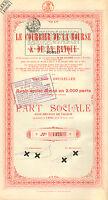 Le Courrier de la Bourse et de la Banque SA, accion, 1924 (Siege: Bruxelles)