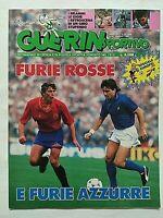 GUERIN SPORTIVO 24-1988 EURO 88 SPAGNA-ITALIA BUTRAGUENO MANCINI MICHEL EDMAR