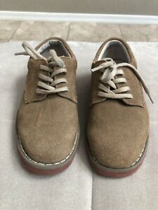 Tucker Tate Boys Dress Shoes Size 10 Brown Leather Suede