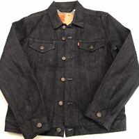 New Levi's Men's Denim Trucker Jacket Dark Blue Wash 100% Cotton S Size Small