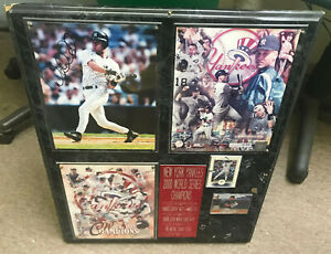 2000 World Champions NY Yankees DEREK JETER Autograph Photo Cards Collage Plaque