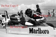 GILLES Villeneuve McLaren m23 di British Grand Prix 1977 fotografia 8