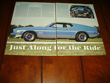 1973 FORD MUSTANG MACH 1 ***ORIGINAL 1994 ARTICLE***