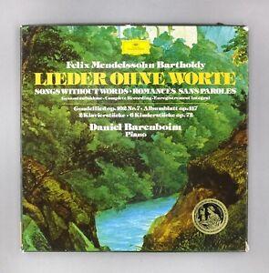 "Mendelssohn - Lieder Ohne Worte - Barenboim - NM Triple 12"" Vinyl - 2740 104"