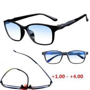 TR90 Flexible Blue Light Blocking Gaming Computer Reading Glasses +1.00-+4.00