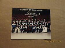 AHL Newmarket Saints Vintage Defunct Circa 89/90 Hockey Team Photo