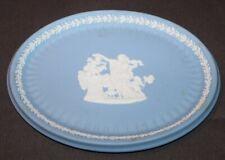Antique c1910 BLUE JASPERWARE Oval Dresser Tray