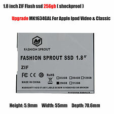 256GB SSD Flash Replace TOSHIBA MK1634GAL 160 GB HDD For IPOD 7th Gen Classic