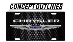 Chrysler Premium Aluminium License Plate Tag Custom For Car or Room TCBC