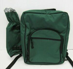 Insulated Picnic Set Backpack Basket Lunch Cooler Utensils & Plates - BAR S24