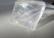 Iceland spar optical calcite specimen  Lot of 6  assorted   approx 8 oz