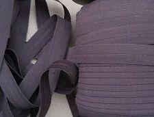 Marrón Plegable elástico Manualidades, costura, cintas para el pelo, lencería de 16mm de ancho de 2 metros