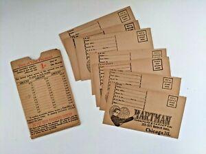 7 Payment Envelopes & Holder Hartman Furniture & Carpet Company Chicago IL c1915
