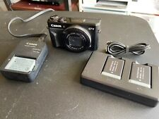 Canon PowerShot G7 X Mark II 20.1 MP Digital Camera - Black w/ 2 extra batteries