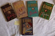 V C Andrews ORPHANS series complete 5 books paperback vc