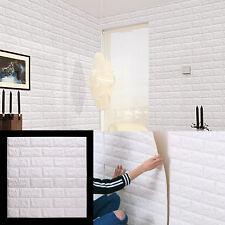 3D Brique étanche Autocollant Mural Panneaux Papier Peint Blanc 60*60CM
