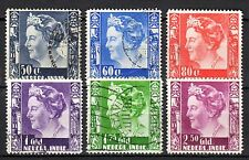 Dutch Indies - 1934 Definitives Wilhelmina - Mi. 223-28 VFU