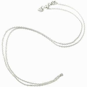 18ct White Gold Fine Chain Adjustable Belcher Style 18 Inches Hallmarked