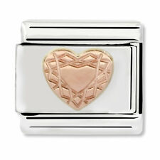 GENUINE Nomination Classic Rose Gold Vintage Heart Charm 430104/19 / £18 RRP