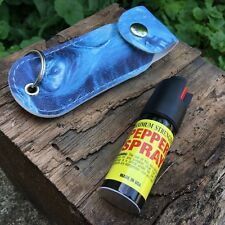 Personal Pepper Spray 18% Self Defense Mase 1/2 oz Keychain Blue ZOMBIE Case -M