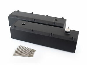 Canton 65-386BLK Valve Covers Big Block Ford 429/460 Fab Alum Fill & PCV Ports