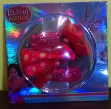 Disney's Elena of Avalor Girl 1 Red Hair Bow Clip 2 Red Snap Clip 3yrs+ New 2016