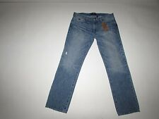 Guess Men's Lincoln Slim Straight Jeans Size 36 x 32 NWT Low Rise Light Blue