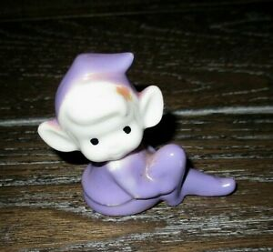 Vintage Mini Posing Purple Pixie Elf Figurine - Japan VGC