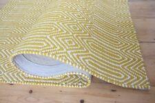 Sloan Flatweave Tappeto Mostarda 120x170 lana & cotone stampa geometrica