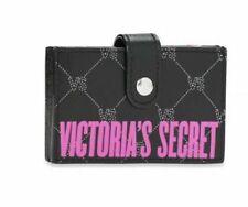 VICTORIAS SECRET ACCORDIAN STYLE CREDIT CARD CASH CASE WALLET BLACK PINK NWT