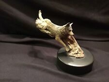 """Rick Cain Limited Edition """"Leaping Wolf"""" 1147/2000 Carved Wolf - HAND SIGNED NEW"""