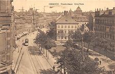 Chemnitz Sachsen Theaterstrasse Roter Turm Strassenbahn Strasse 1917