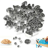 37pcs Alphabet Letter Number Fondant Cake Biscuit Baking Mould Cookie Cutter US