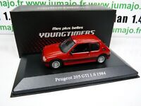 DIV2 Voitures Atlas Test 1/43 YOUNGTIMERS : PEUGEOT 205 GTI 1.6 1984