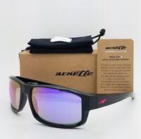 NEW Arnette Sunglasses Boxcar AN4224 41/4V Gloss Black Violet Mirror AUTHENTIC