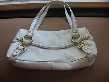 KENNETH COLE white + gold shoulder bag- medium-brand new
