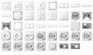 Merten Steckdosen, Schalter, UP, Rahmen 1-M, M-Smart, Aktivweiss glänzend