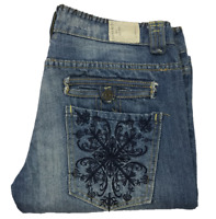 TAVERNITI SO | Jimmy | Women's Jeans | Distressed | Embellished | Blue | Size 30