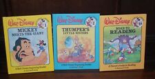 WALT DISNEY FUN-TO-READ LIBRARY VOL. 1,2,19 IN EXCELLENT USED CONDITION 1988