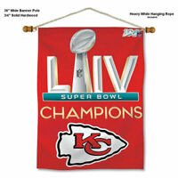 KC Chiefs Super Bowl LIV 54 2020 Champions Wall Hanging Banner